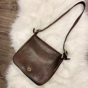 Vintage Coach | Stewardess Brown Leather Handbag